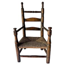 Very Rare 17th Child's Mushroom Arm Chair