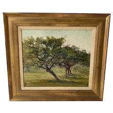 19th c Oil Painting of Trees