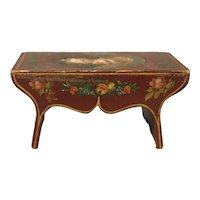 19th Century Miniature Decorated Stool