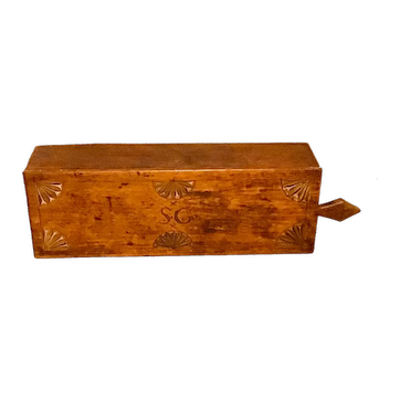 18th or Early 19th Century slide lid box