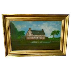 19th Century Craddock-Tufts Oil on Board