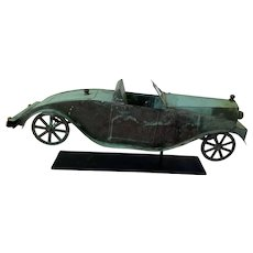 Early 20th c Roadster Weathervane