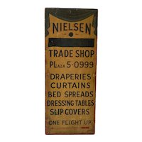 Late 19th c Trade Shop Sign