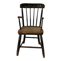 Late 19th c Child's Windsor Arm Chair