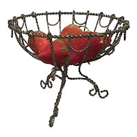 Early 20th Century Miniature Wire Compote