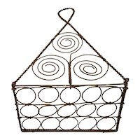 Late 19th Century French Wire Work Hanging Spoon Rack