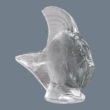 A large Fish sculpture by R.Lalique , 31 cm high.