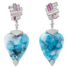 Fractal Frost Earrings