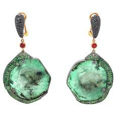 Green Blood Lizard Earrings