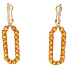 Infinite Chance Earrings with Yellow Sapphires