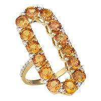 18k Gold Infinite Chance Sapphire Ring with Diamonds