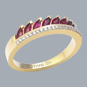 Twist of Fate Ruby Ring