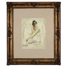 ANDRÉ DERAIN (1880-1954) Ballerina Figure Watercolor. Early 20th Century