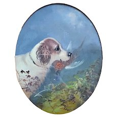 BRITISH SCHOOL, 19th Century English Springer Spaniel with Pheasant Painting