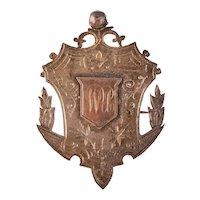 Antique Victorian Sterling Silver Fob Brooch – Albert Watch Chain