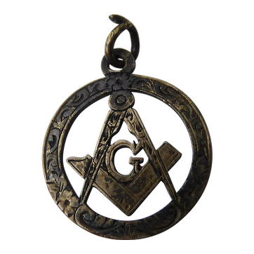 Antique Edwardian Sterling Silver Masonic Jewel Fob