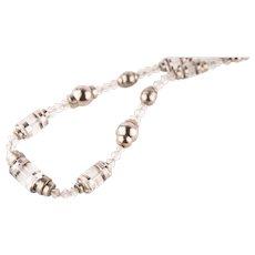 Antique Vintage Art Deco Geometric Glass Necklace