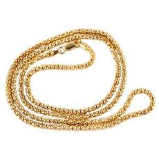Vintage Italian Silver Gilt 18ct Gold Vermeil Chain – 23 Inches