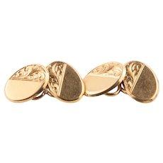 Antique Edwardian 18ct Yellow Gold Cufflinks - 11g – Blank Cartouche