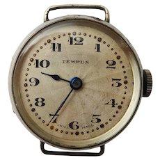 Antique Art Deco Sterling Silver Ladies Tempus Wrist Watch