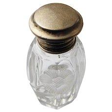 Antique Art Deco Sterling Silver AJ Pepper Co Silver Topped Vanity Bottle