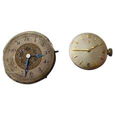17 Jewel Omega & 15 Jewel Waltham Wrist Watch Movements Spare / Repair
