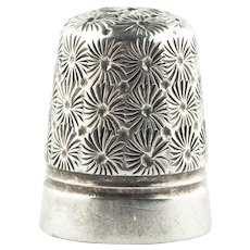 Antique Art Deco Sterling Silver Charles Horner Dorcas 6 Thimble