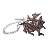 Vintage Scottish Sterling Silver Malcolm Gray Maeshowe Dragon Tie Pin