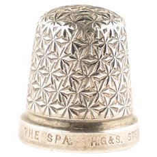 Antique Art Deco Solid Silver Henry Griffiths Thimble – The Spa – Size 18