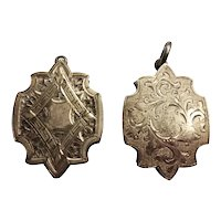 Stunning Pair Of Victorian Silver Lockets - Fraternal Twins