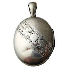 Antique Victorian Sterling Silver Locket