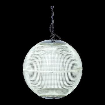 Paris Holophane Globe Streetlight (Top and Bottom in Fiber) france 1950-1959