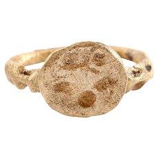 Ancient Rare Christian Pilgrim's Ring 8th-9th Century AD Jewelry Size 8