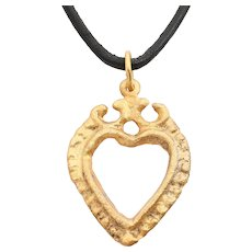 Exceptional Viking Heart Pendant 11th Century AD.