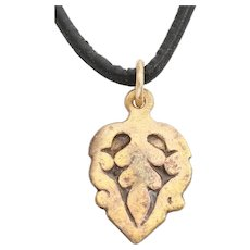 Ancient Viking Heart Pendant Necklace 900-1050 AD Jewelry