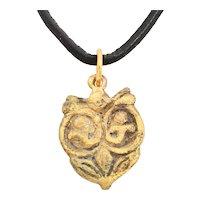 Rare Variation Viking Heart Pendant 10th- 11th Century