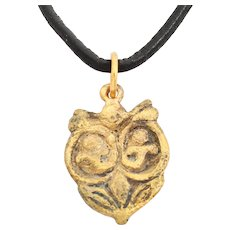 Rare Variation Viking Heart Pendant Necklace 10th- 11th Century Jewelry