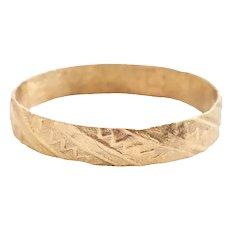 European Wedding Ring C.1400-60 Size 10
