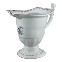 English Lowestoft Porcelain Pitcher C. 1790