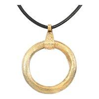 Celtic Prosperity Ring Necklace C.400- 100 BC
