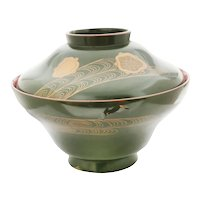 LARGE Japanese Lacquered Bowl With Cover