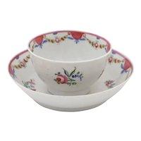 English Porcelain Tea Bowl and Under Bowl