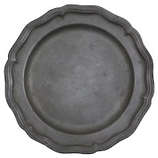 18th Century French Pewter Plate