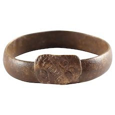 Eastern European Betrothal Ring For A Woman Size 8 ¾