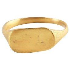 Celtic Gilt Man's Ring, 2nd-3rd Century AD Size 8 ¾