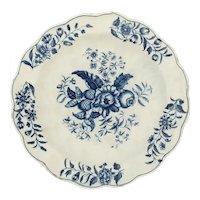 First Period Worcester Dish C.1770