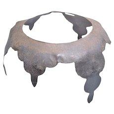 Rare English Civil War Armored Hat Liner Secrete C.1640