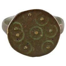 Good European Pilgrim's Ring, 8th-9th Century AD Size 5
