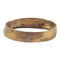 Ancient Viking Woman's Wedding Ring C.850-1050 AD Size 2 ½
