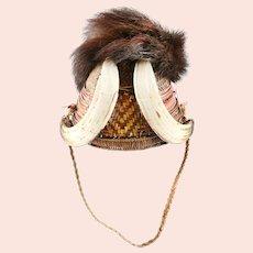 Fine Naga Headhunter's Wicker Helmet/Hat